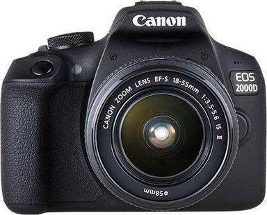Canon »EOS 2000 D EF-S 18-55 IS II Kit« Spiegelreflexkamera (EF-S 18-55 IS II, 24,1 MP, NFC, WLAN (Wi-Fi), Videoaufnahmen in Full HD 1080p)