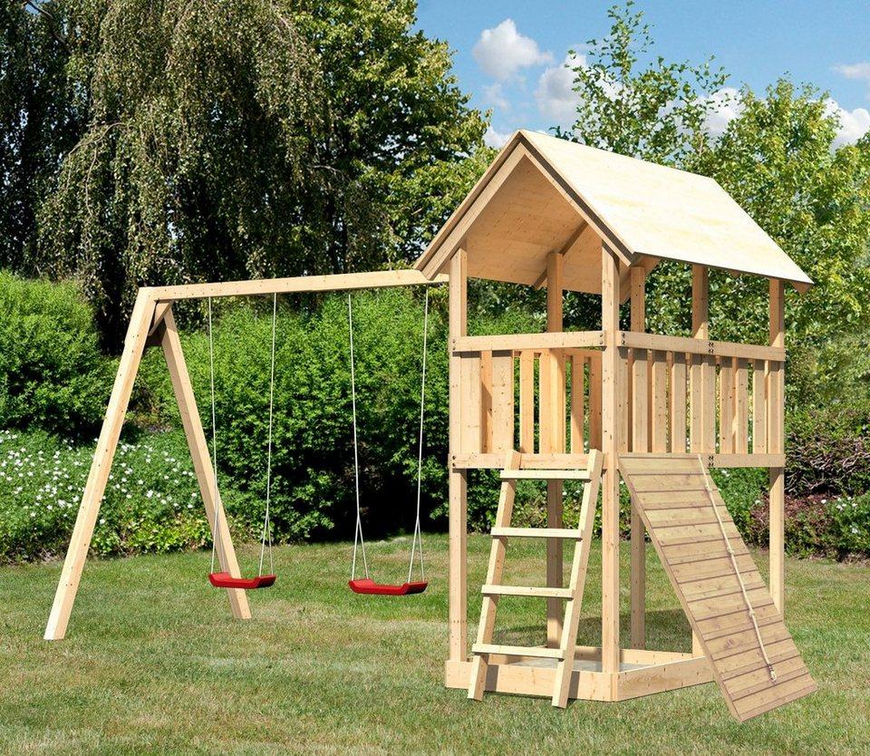 ABUKI Spielturm  Winnie 11 , BxT: 484x183 cm, mit Doppelschaukel und Holzrampe online kaufen