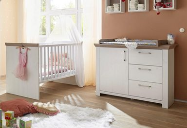 babym bel set stralsund 2 tlg bett wickelkommode. Black Bedroom Furniture Sets. Home Design Ideas