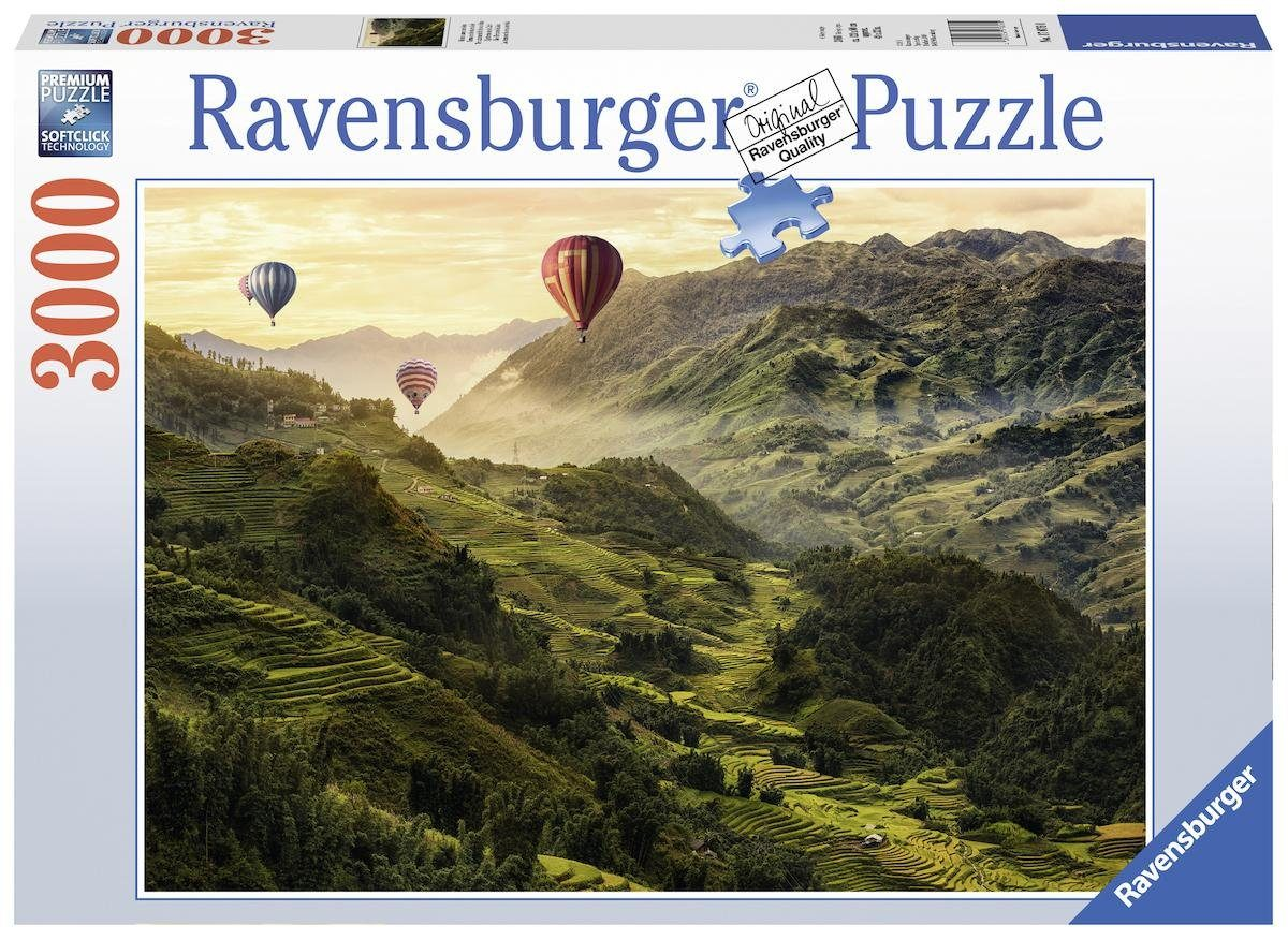Ravensburger Puzzle, 3000 Teile, »Reisterrassen in Asien«