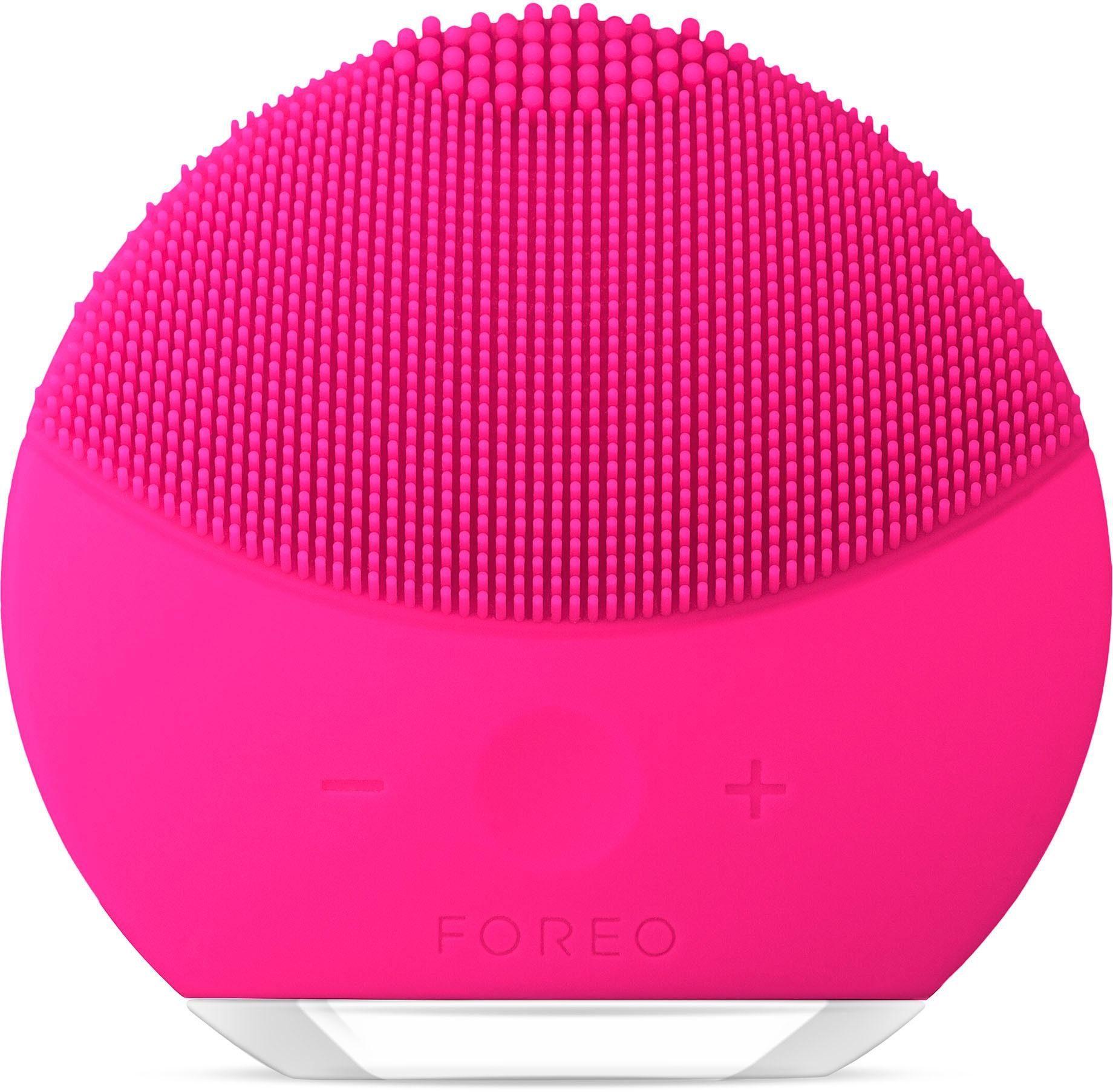 FOREO Elektrische Gesichtsreinigungsbürste LUNA mini 2 Fuchsia, für jeden Hauttyp geeignet, USB wiederaufladbar