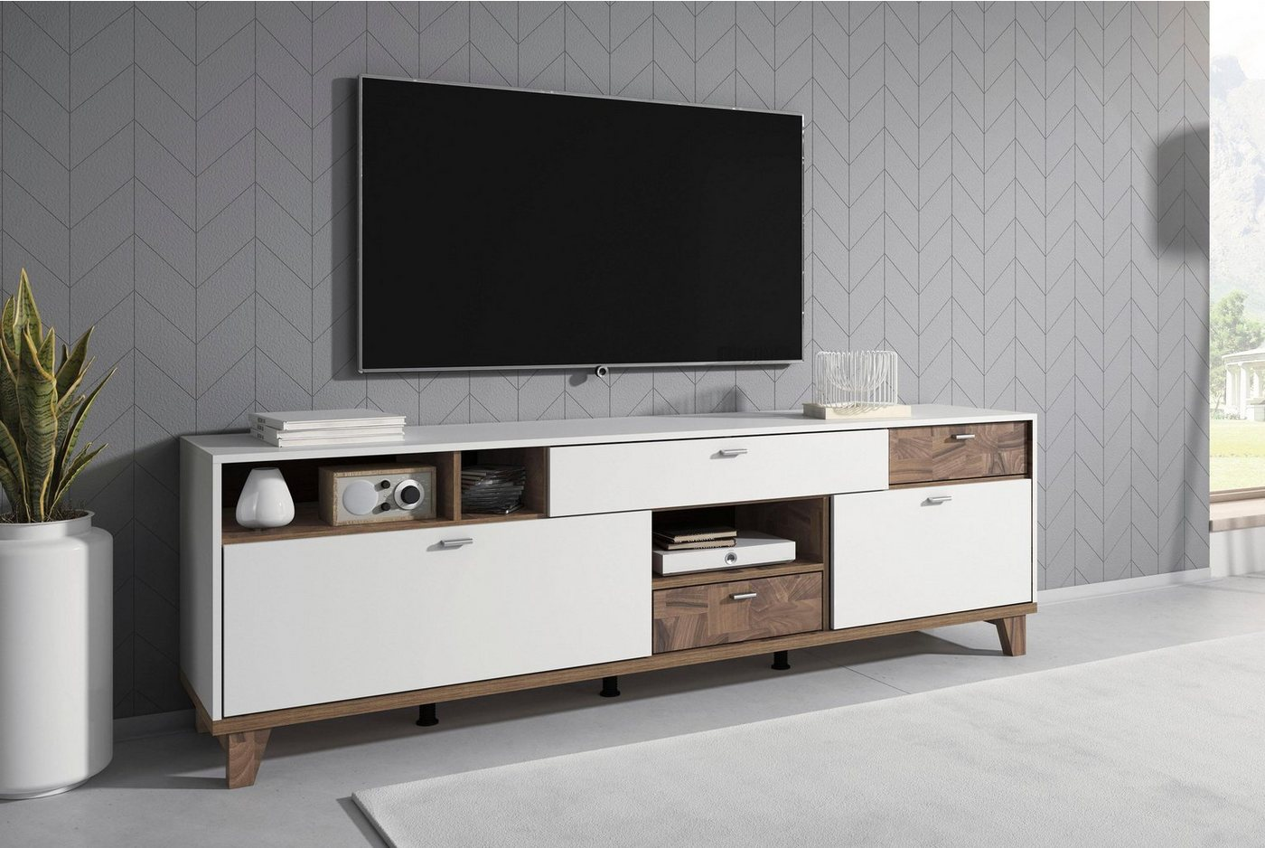 Lowboard Move  Breite 206 cm weiß   05900488560049