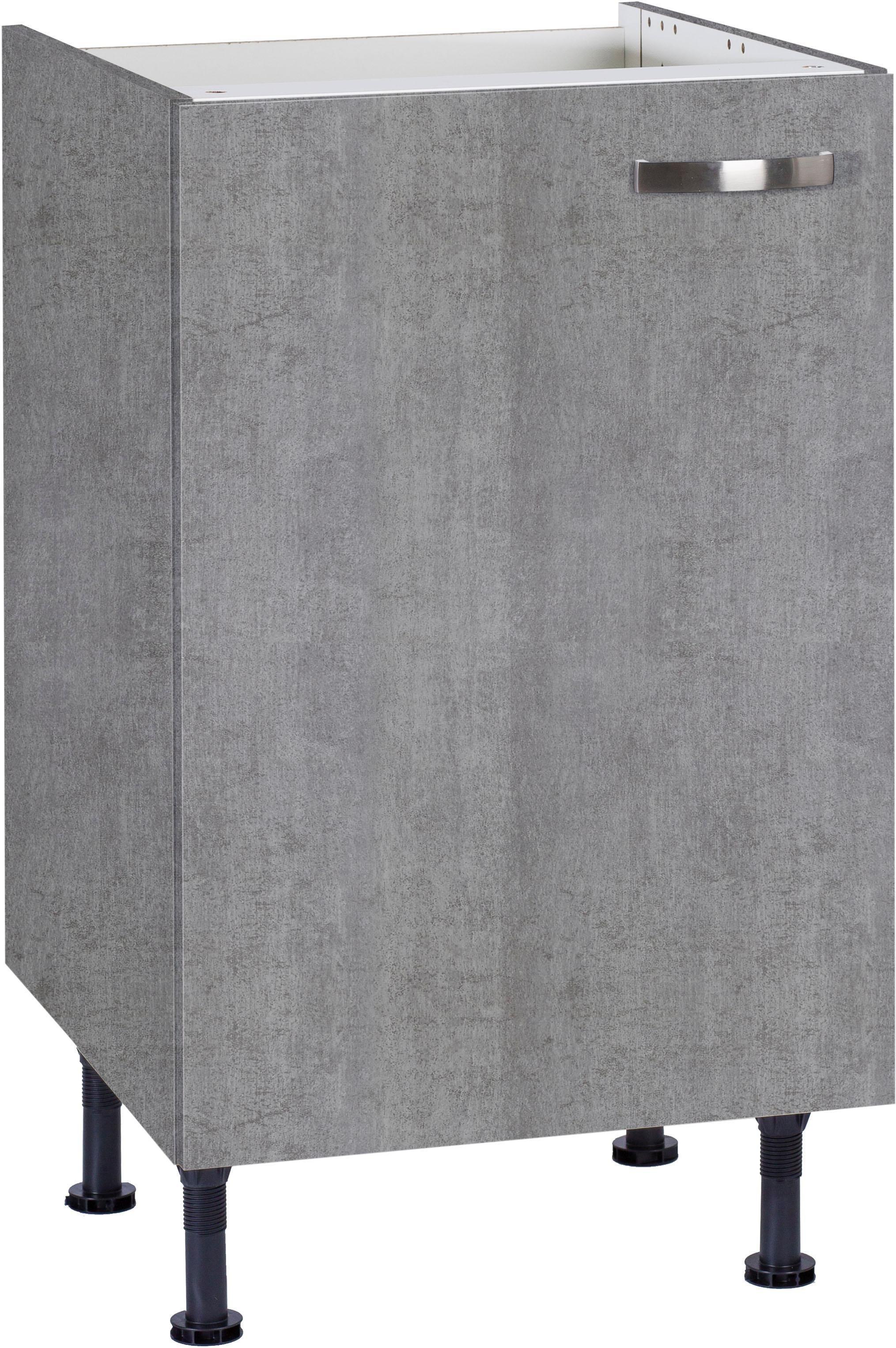 OPTIFIT »Cara« Spülenschrank, Breite 50 cm | Küche und Esszimmer > Küchenschränke > Spülenschränke | Anthrazit - Weiß - Glanz | Beton - Glänzend - Mdf - Melamin | OPTIFIT