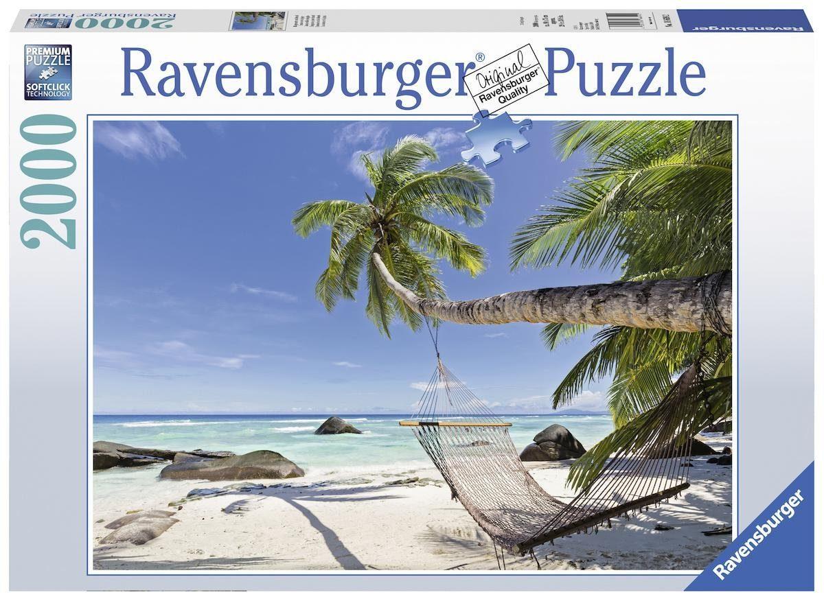 Ravensburger Puzzle »Hängematte am Strand«, 2000 Teilig, Softclick Technology.