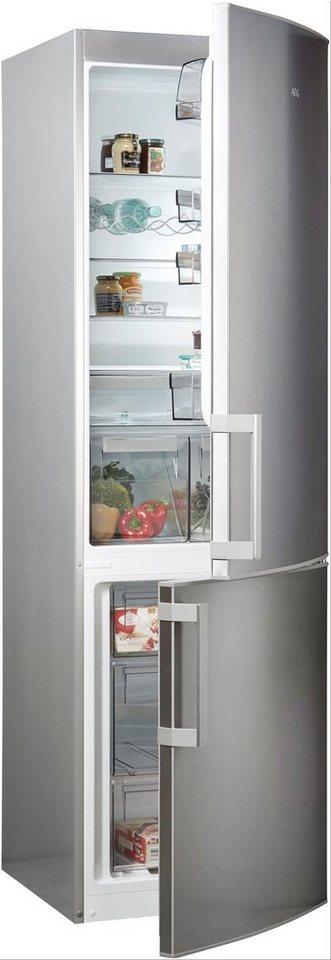 aeg k hl gefrierkombination rcb63831nx 200 5 cm hoch 59 5 cm breit online kaufen otto. Black Bedroom Furniture Sets. Home Design Ideas