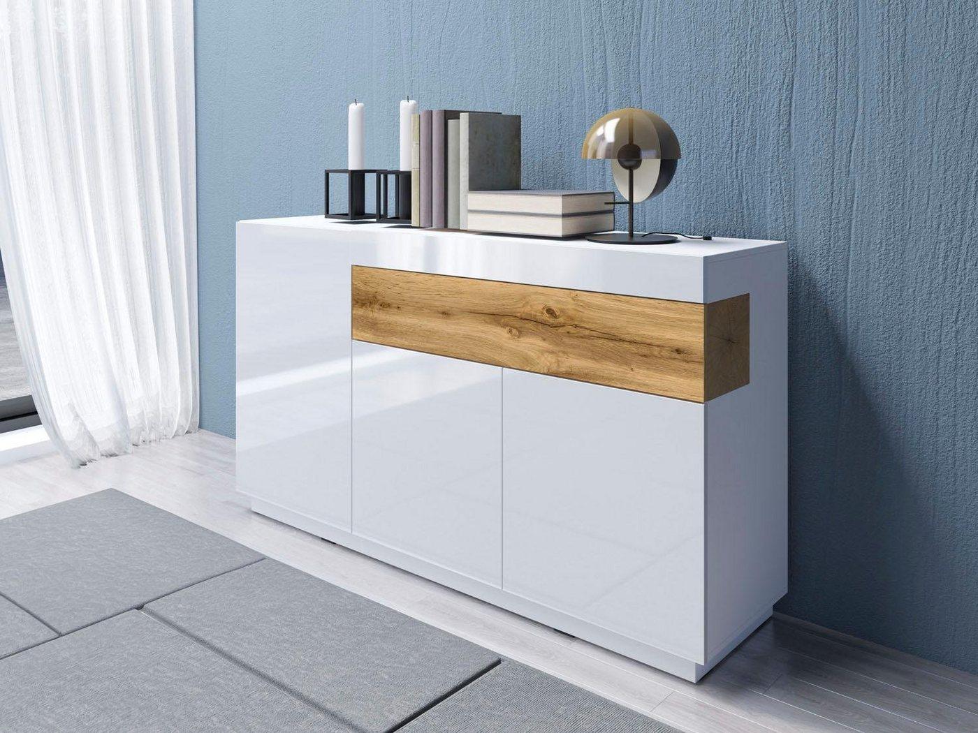 Sideboard SILKE  Breite 150 cm weiß   05900488560056