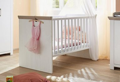 babybett passend zur babym bel serie stralsund in pinie. Black Bedroom Furniture Sets. Home Design Ideas