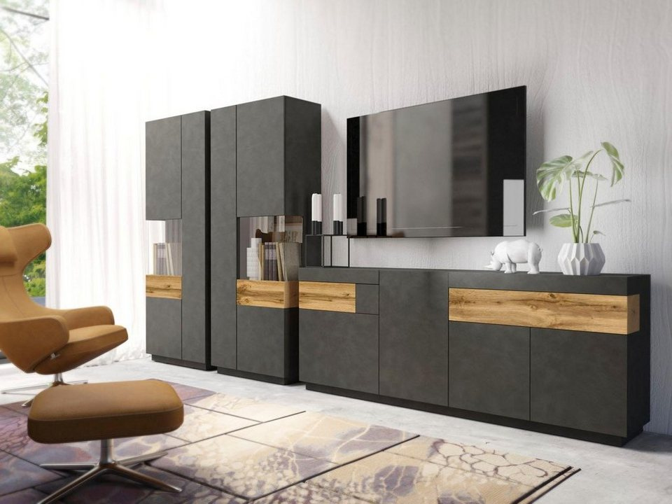 wohnwand silke 3 tlg online kaufen otto. Black Bedroom Furniture Sets. Home Design Ideas
