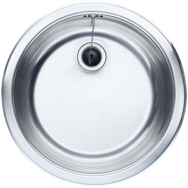 OPTIFIT Edelstahl-Einbauspüle Rundbecken | Küche und Esszimmer > Spülen > Einbauspülen | OPTIFIT