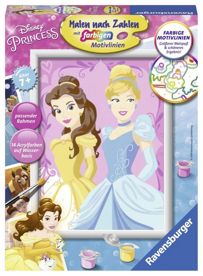 Ravensburger Malen nach Zahlen, »Disney Belle & Cinderella« online ...
