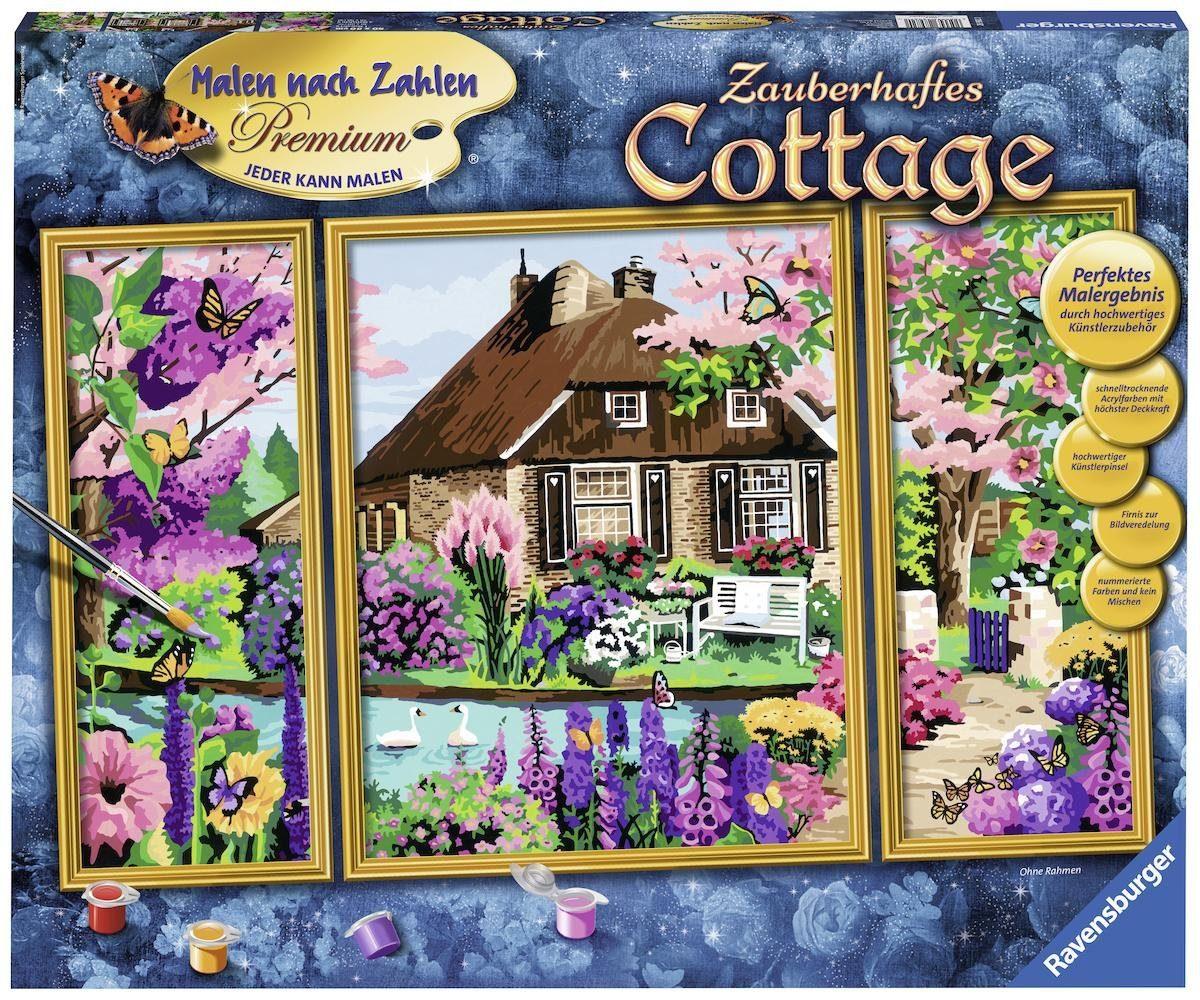 Ravensburger Malen nach Zahlen, »Zauberhaftes Cottage«