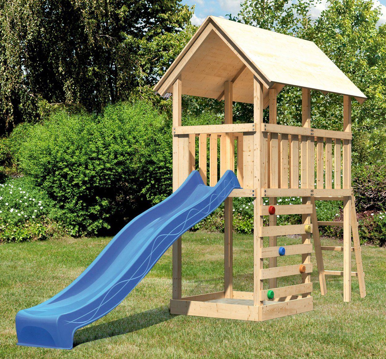 ABUKI Spielturm »Winnie 8«, BxT: 107x202 cm, mit Rutsche und Kletterwand