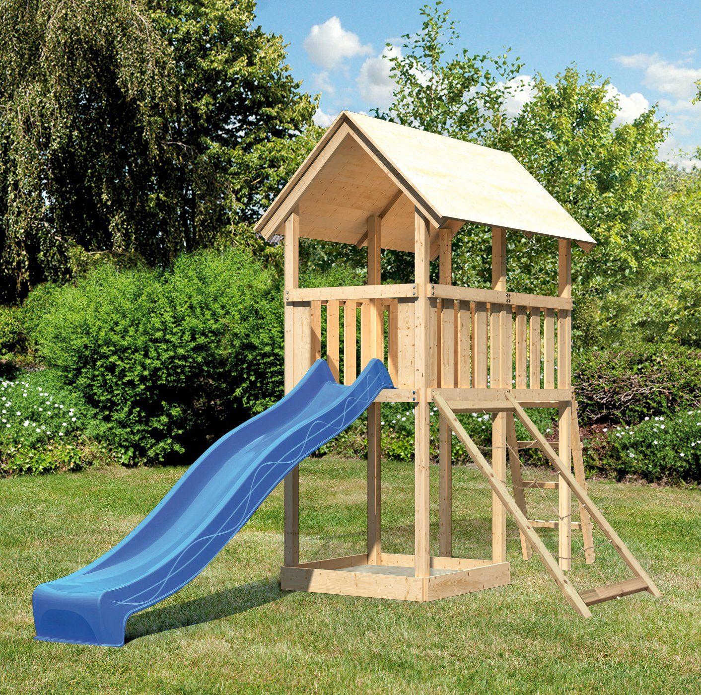 ABUKI Spielturm »Winnie 9«, BxT: 107x202 cm, mit Rutsche und Netzrampe