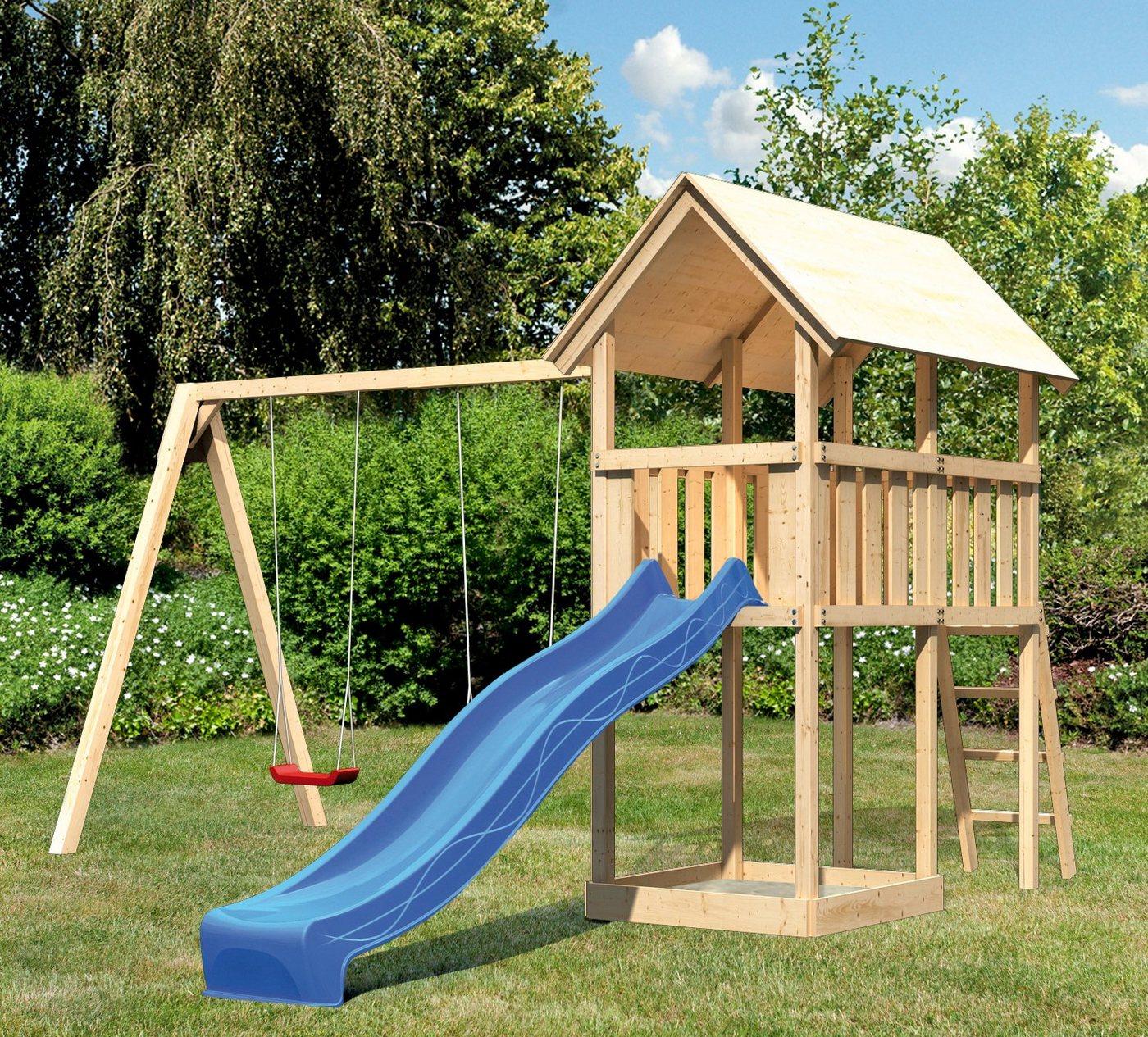 ABUKI Spielturm »Winnie 10«, BxT: 484x183 cm, mit Doppelschaukel und Rutsche