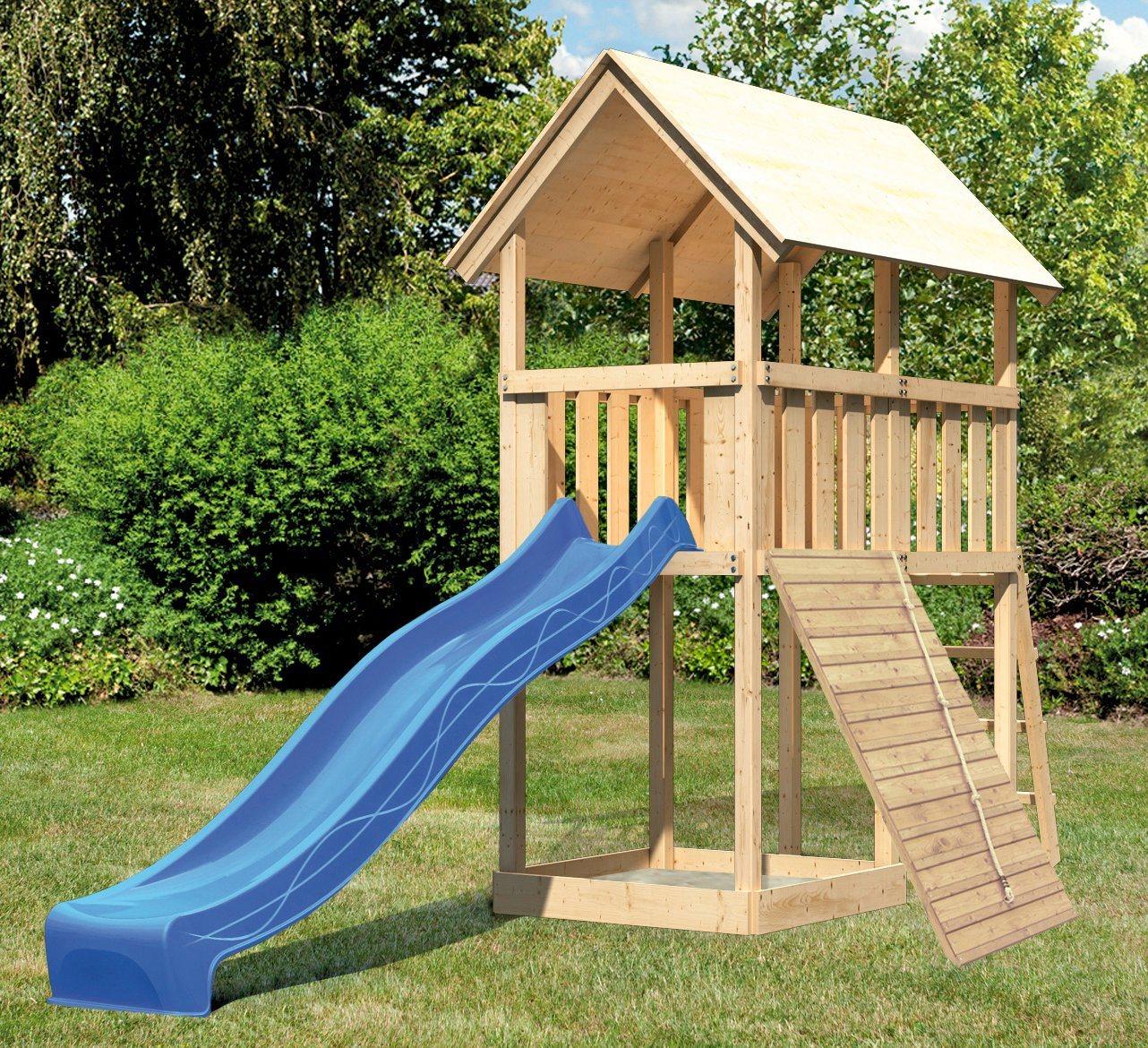 ABUKI Spielturm »Winnie 7«, BxT: 107x202 cm, mit Rutsche und Holzrampe