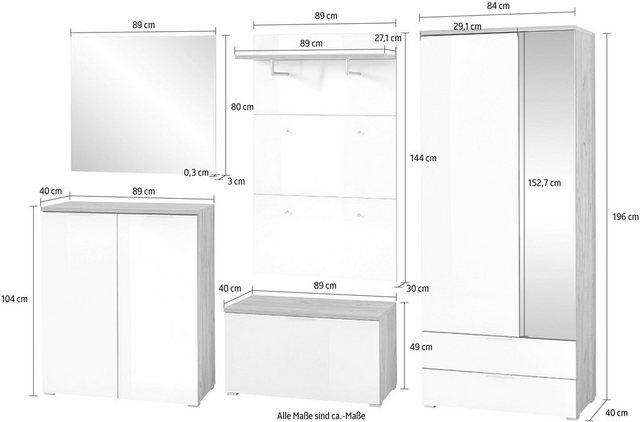 Garderoben Sets - GERMANIA Garderoben Set »GW Telde«, (Set, 5 tlg)  - Onlineshop OTTO