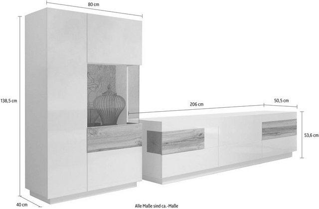 Wohnwände - TRENDMANUFAKTUR Wohnwand »Silke«, (Set, 2 tlg), (2 tlg)  - Onlineshop OTTO