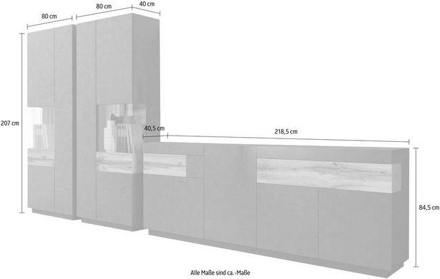 Wohnwände - TRENDMANUFAKTUR Wohnwand »SILKE«, (Set, 3 St)  - Onlineshop OTTO