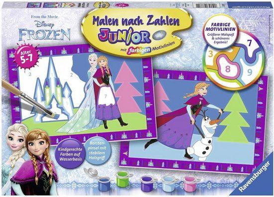Ravensburger Malen nach Zahlen »Disney Frozen, Die Eiskönigin«, Made in Europe, FSC® - schützt Wald - weltweit