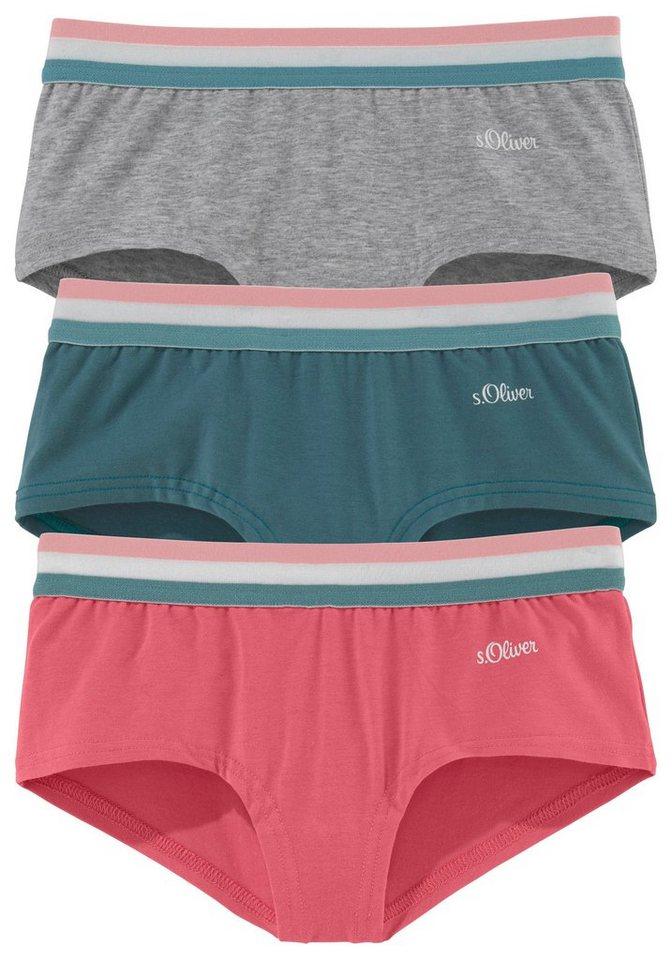 S Oliver Red Label Bodywear Panty 3 Stueck Grau Meliert Plus Hummer Plus  Petrol?$formatz$