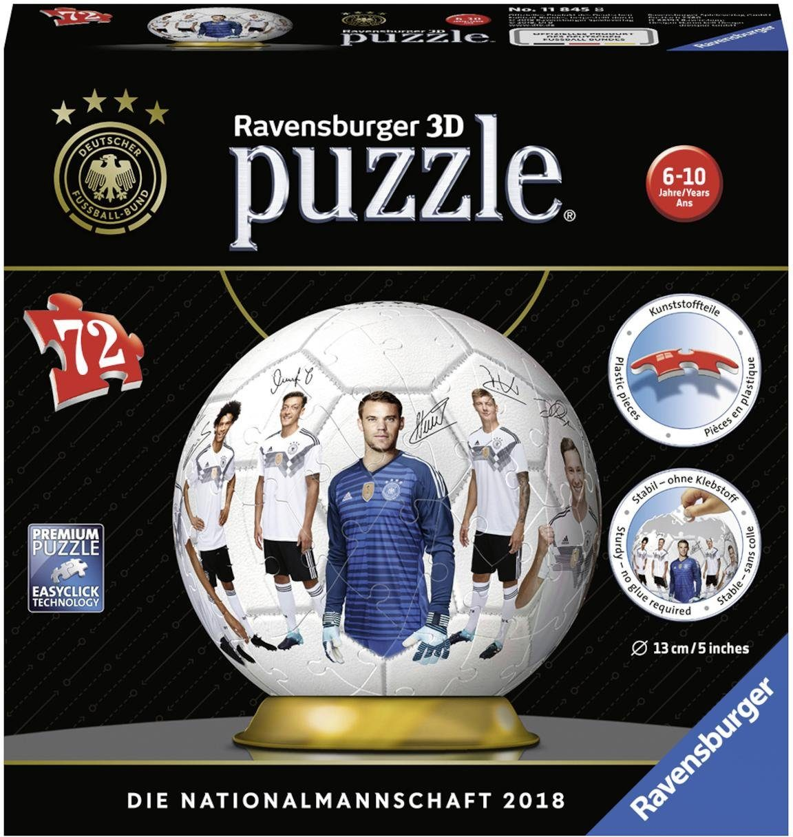 Ravensburger 3D Puzzleball, 72 Teile, »DFB Teamball«