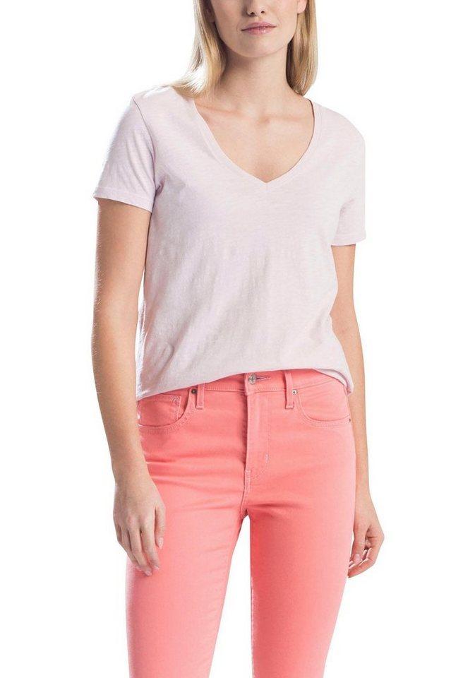 Levi´s® T-Shirt »Essentíal V-Neck« (1-tlg) Weich fließende Viskose-Leinen Qualität