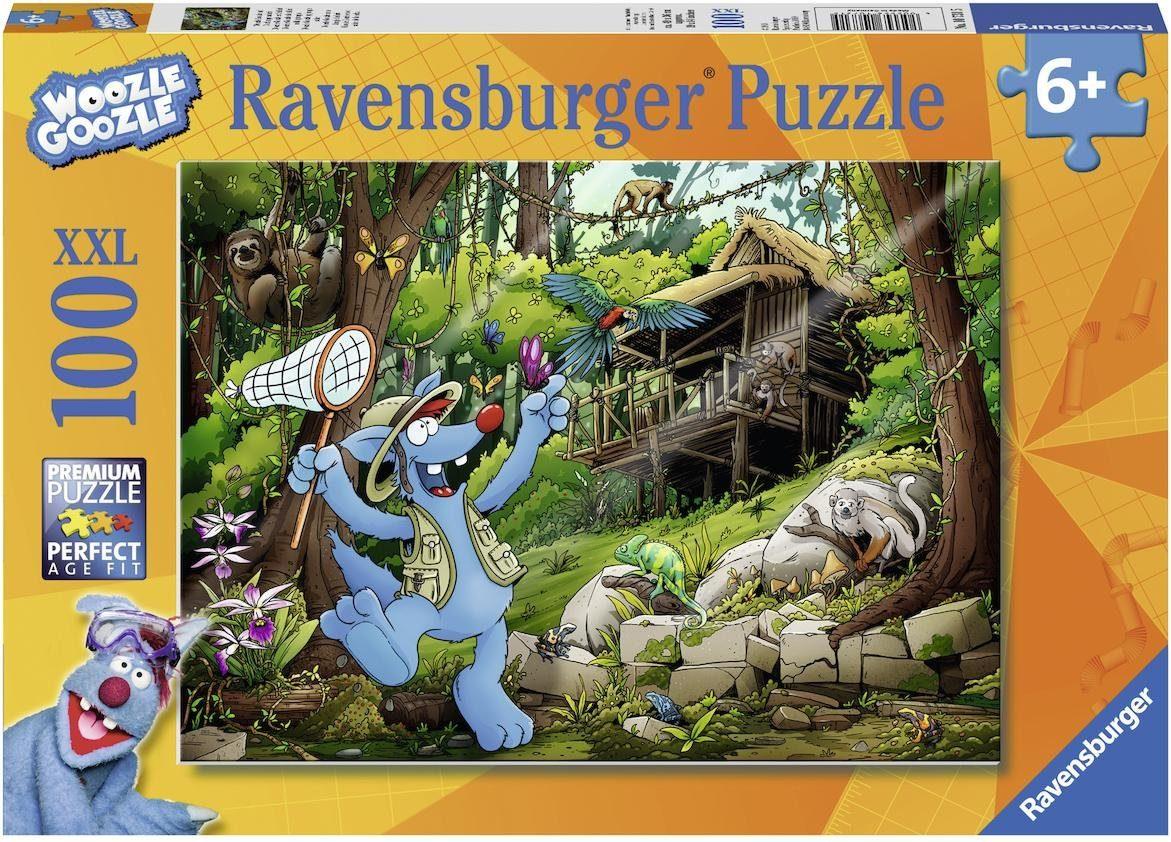 Ravensburger XXL Puzzle, 100 Teile, »Woozle Goozle auf Dschungelsafari«