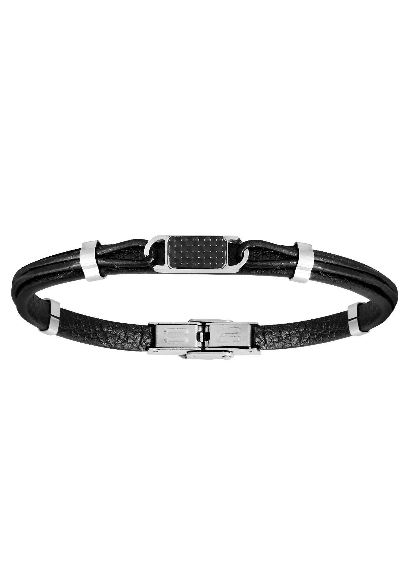 XENOX Armband »Leather & more, X4501« mit Carbon