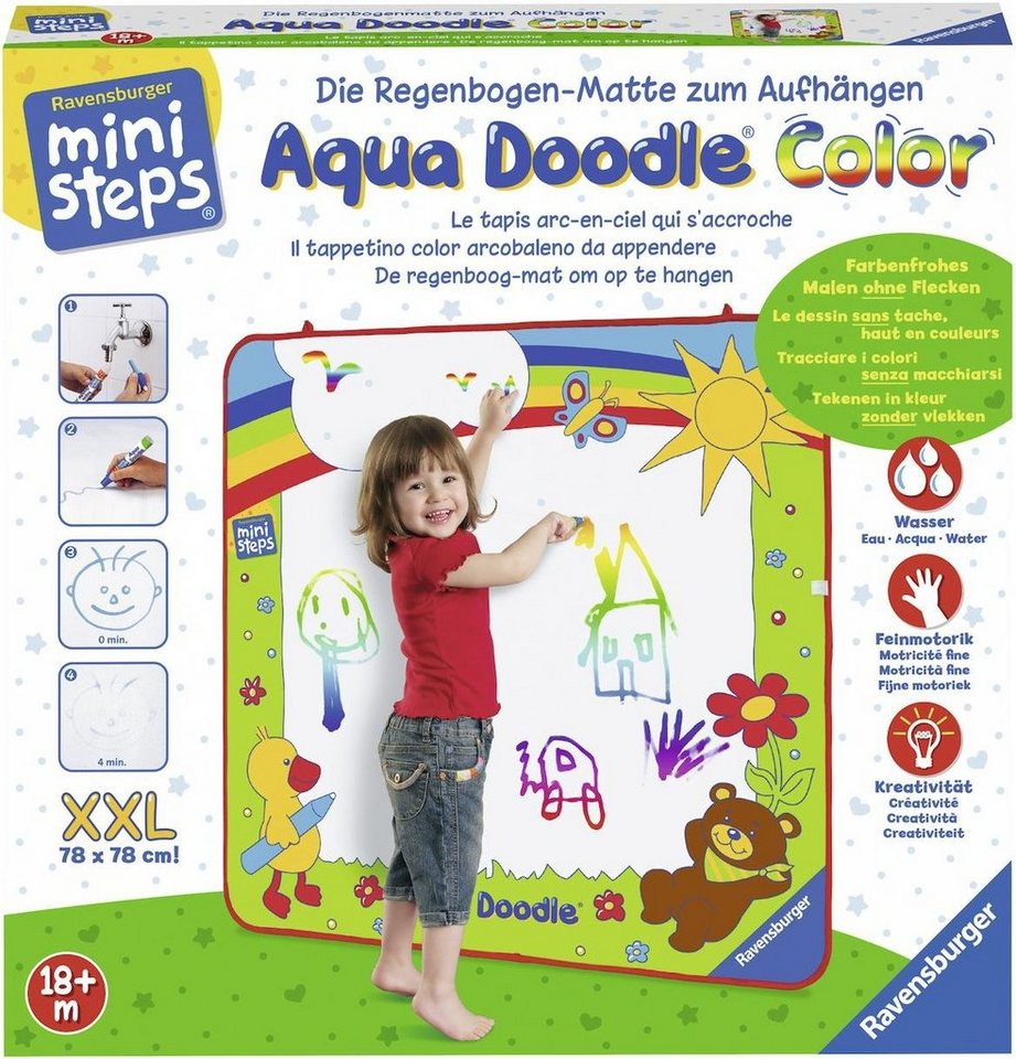 ravensburger malvorlage »ministeps® aqua doodle® xxl color