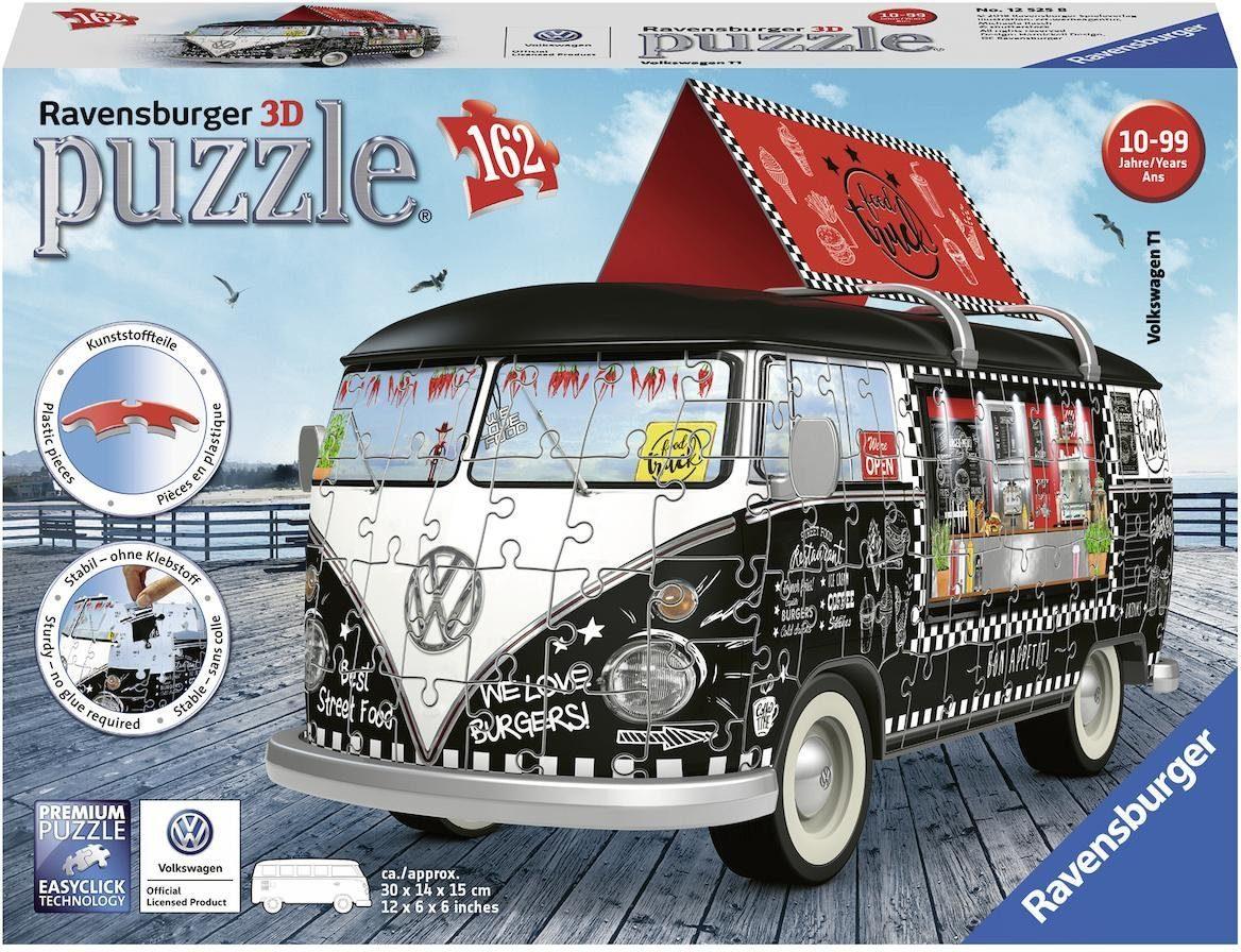 Ravensburger 3D-Puzzle »VW Bus T1 Indian Summer«, 162 Teilig, Easyclick Technology