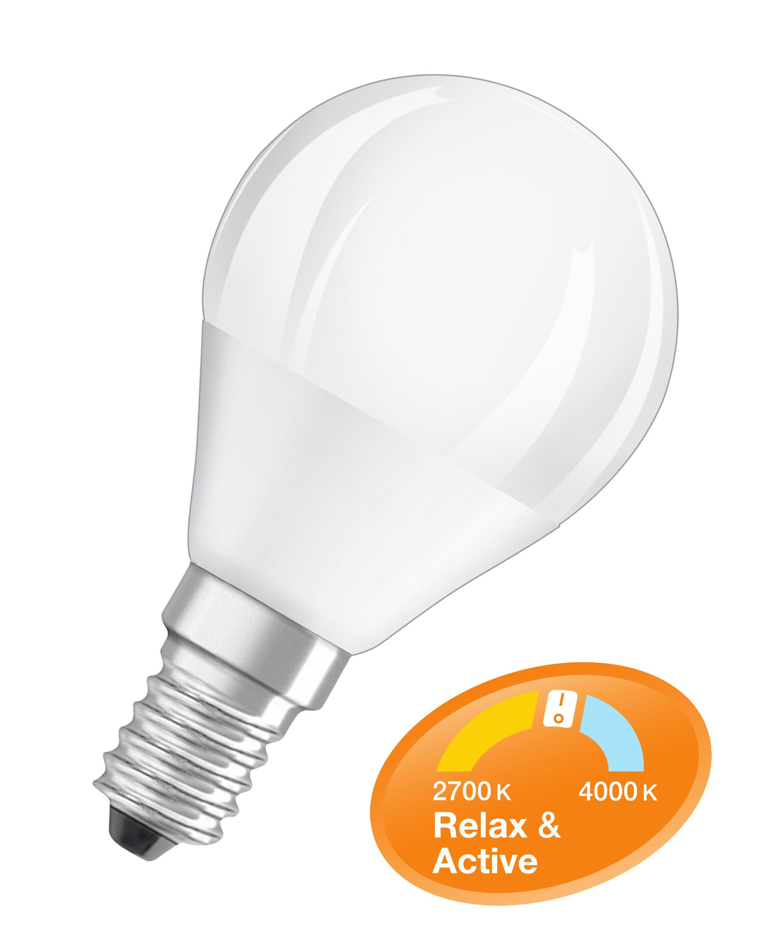 Osram LED RELAX and ACTIVE CLASSIC P LED-Lampe, 470 lm »SST CLAS P 40 5 W/827 E14«