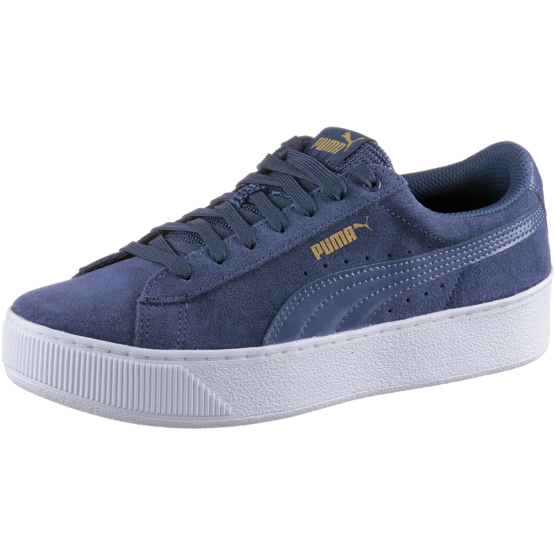 PUMA VIKKY PLATFORM Sneaker online kaufen  dunkelblau-weiß-goldfarben