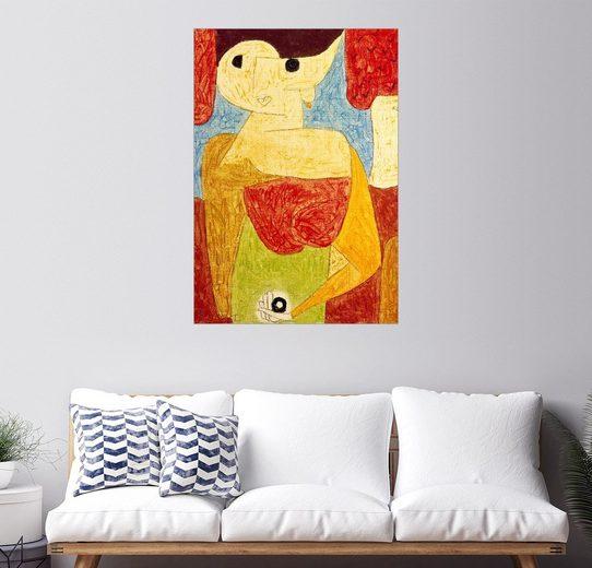 Posterlounge Wandbild - Paul Klee »Omphalo-centrischer Vortrag«