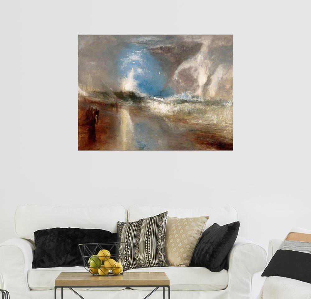 Posterlounge Wandbild - Joseph Mallord William Turner »Blaue Lichter warnen Dampfschiffe vor U...«