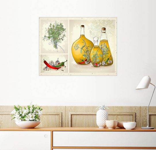 Posterlounge Wandbild »Küchenkräuter Collage«