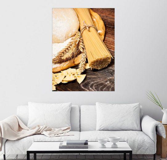 Posterlounge Wandbild »Hausgemachte Nudeln«