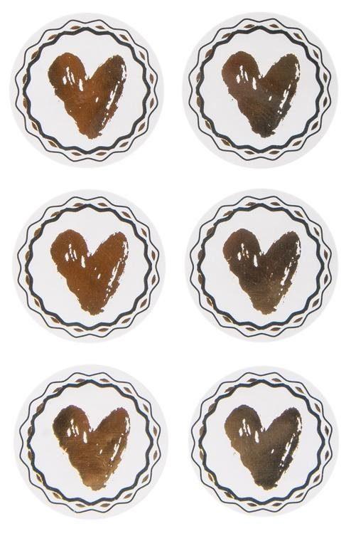 """Sticker """"Herz"""", mit Goldfolie 24 Stück"""