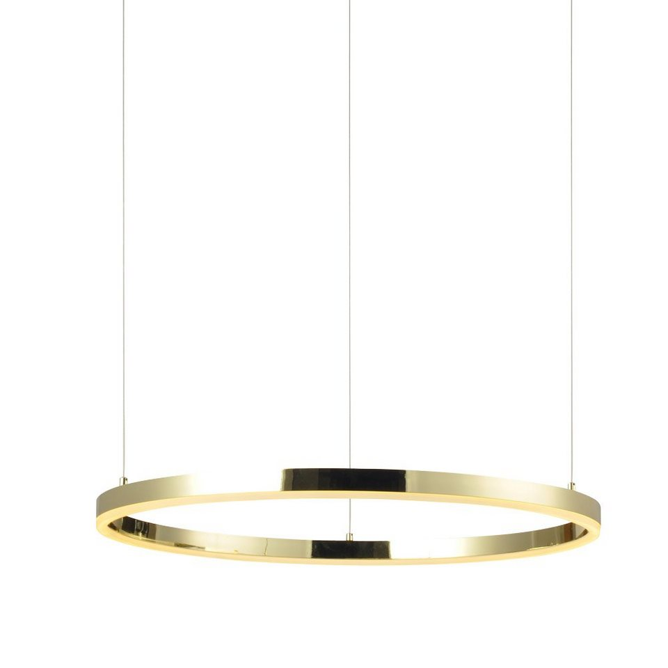 s luce pendelleuchte ring l led 80cm gold otto. Black Bedroom Furniture Sets. Home Design Ideas