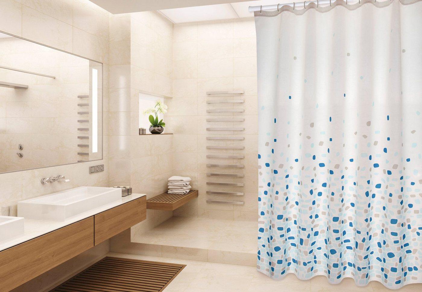 Duschen und Zubehör - MSV Duschvorhang »PREMIUM BREST BLAU«, Breite 180 cm  - Onlineshop OTTO