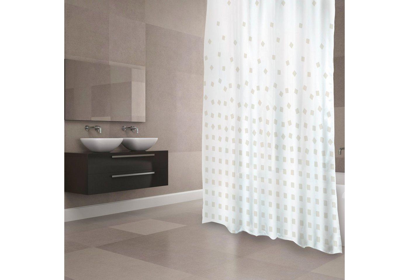 Duschen und Zubehör - MSV Duschvorhang »PREMIUM THIKA BEIGE«, Breite 180 cm  - Onlineshop OTTO