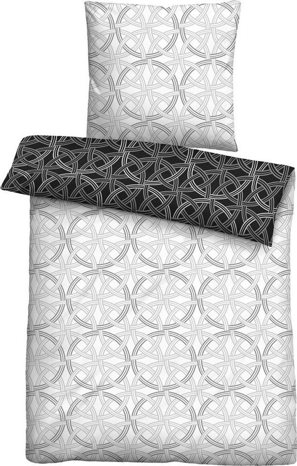 bettw sche naima biberna mit muster aus kreisen online kaufen otto. Black Bedroom Furniture Sets. Home Design Ideas