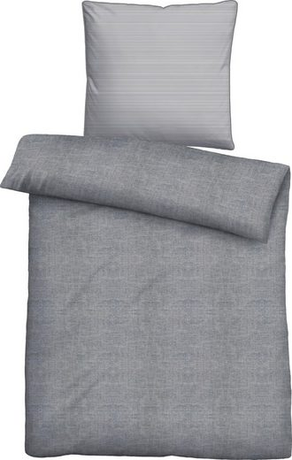 Bettwäsche »Liora«, Biberna, mit unterschiedlichem Kissen und Bettbezug