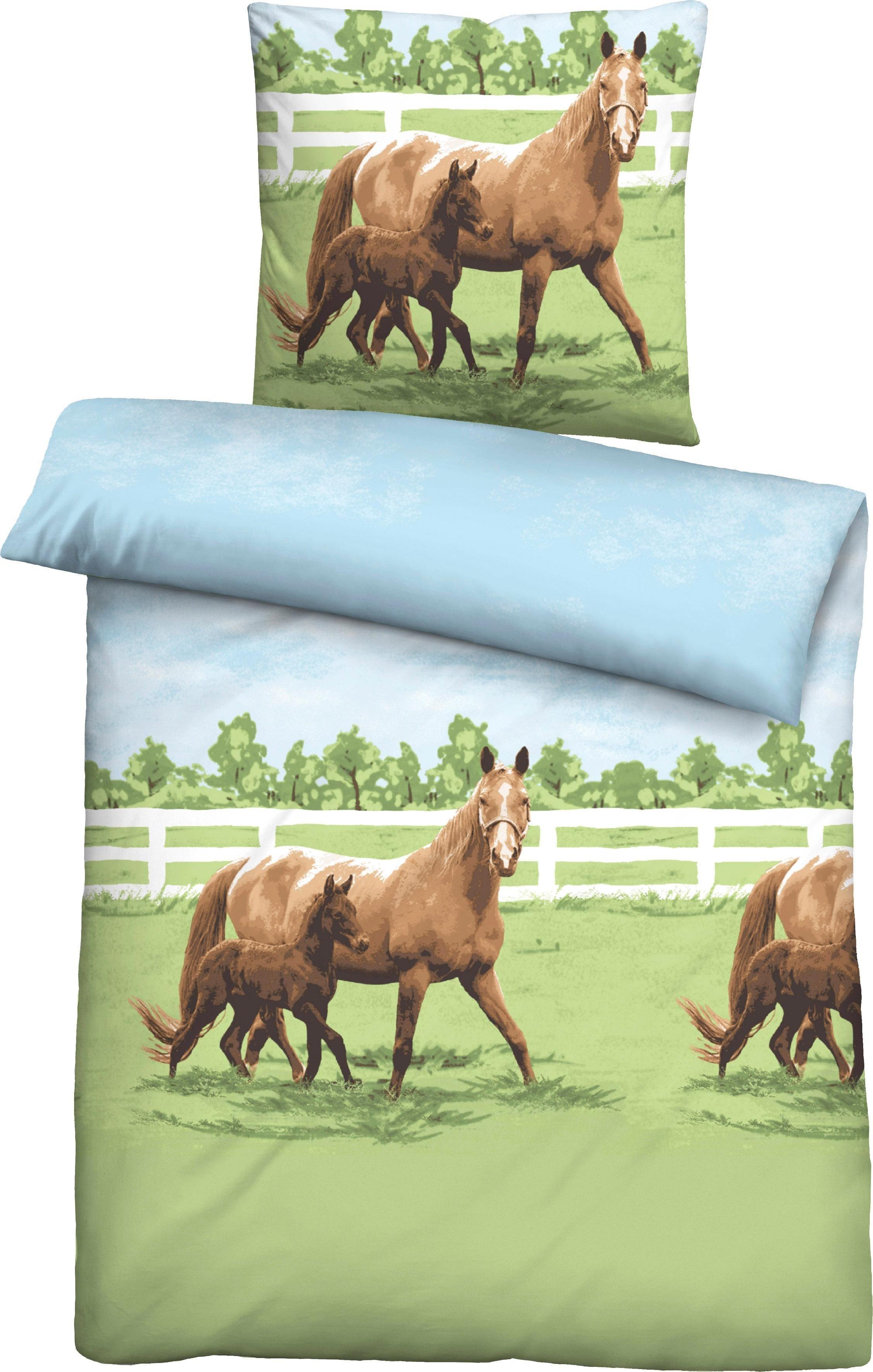 Jugendbettwäsche »Femke«, , mit Pferden