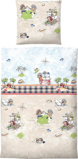Kinderbettwäsche »Jola«, Biberna, mit Piratenmotiv