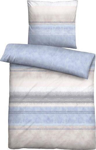 Bettwäsche »Larea«, Biberna, mit breiten Streifen