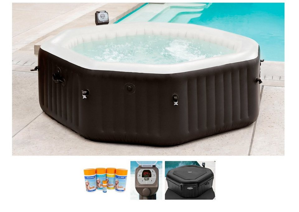 intex set whirlpool pure spa octagon bubble h 218 71 cm online kaufen otto. Black Bedroom Furniture Sets. Home Design Ideas