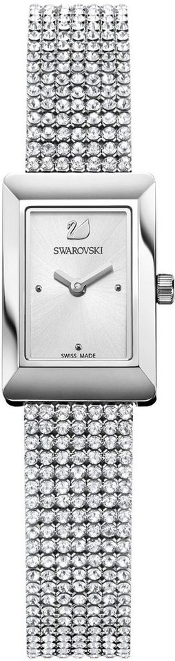 Swarovski Schweizer Uhr »Memories Uhr, Crystal Mesh Armband, weiss, silberfarben, 5209187«   Uhren > Schweizer Uhren   Swarovski