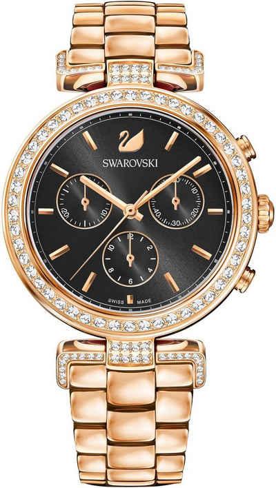Swarovski Schweizer Uhr »Era Journey Uhr, Metallarmband, schwarz,  roséfarben, 5295366« 53e8396450