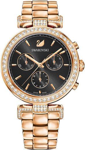 Swarovski Schweizer Uhr »Era Journey Uhr, Metallarmband, schwarz, roséfarben, 5295366«
