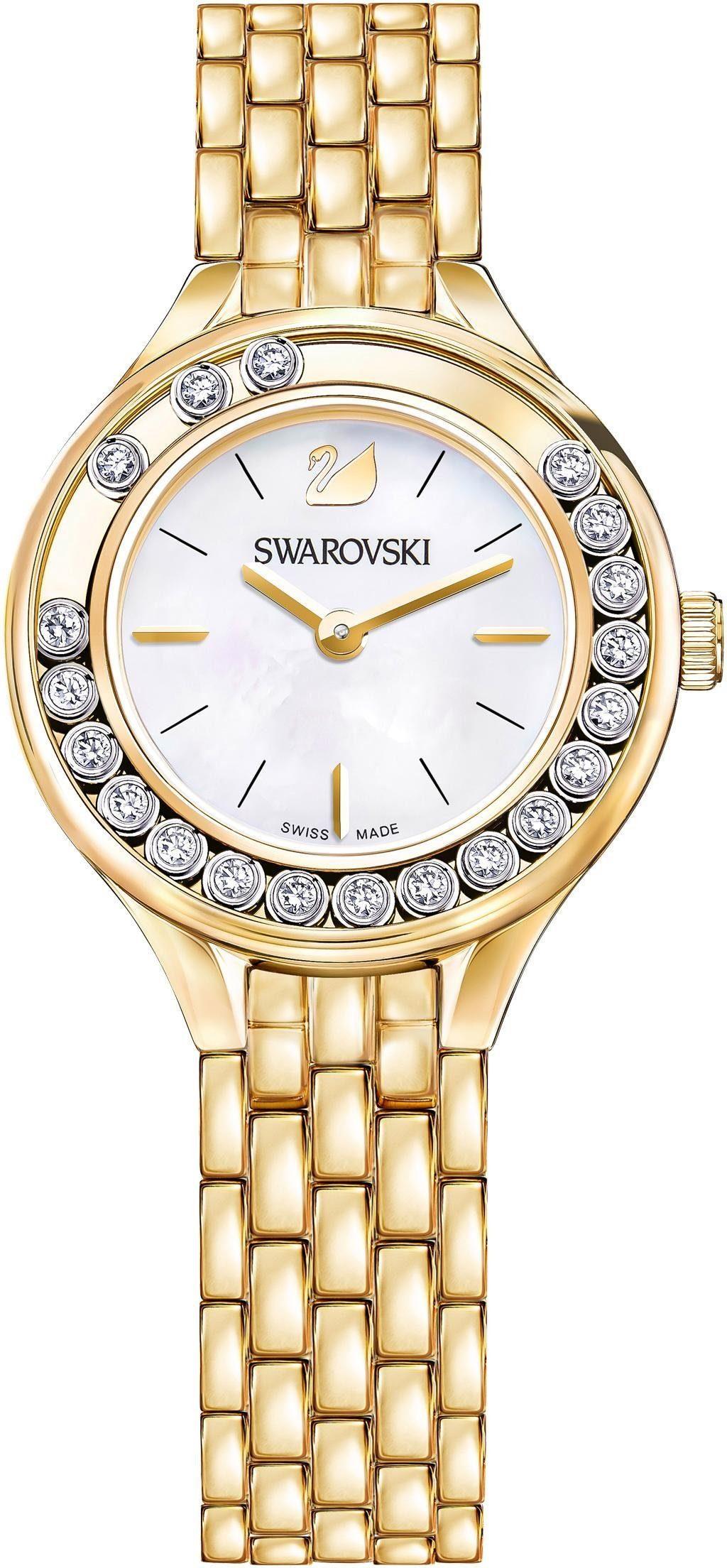 Swarovski Schweizer Uhr »Lovely Crystals Mini Uhr, Metallarmband, goldfarben, 5242895«